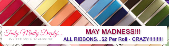 All Ribbons - $2 per Roll - Save Up to 96%!!! Whilst stocks last - Be Quick or Miss Out!!!