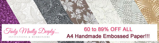 All A4 Embossed Papers - 50-89% OFF!!! Hurry!!!