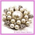 Diamante & Pearl Brooches