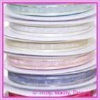 10mm Satin Edged Organza Ribbons