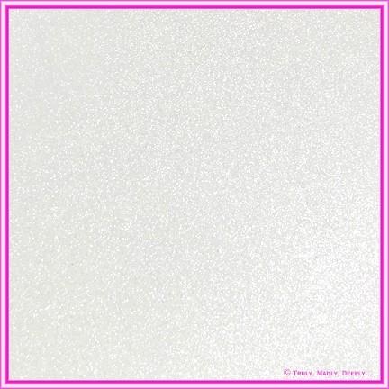A4 Glitter Card White