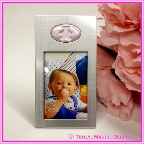 Frame Mini Silver w/ Pink Teddy