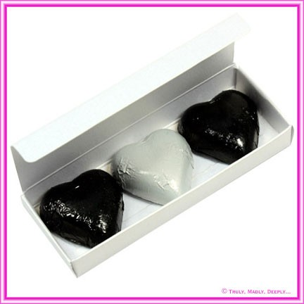 Bomboniere Box - 3 Chocolates - Curious Metallics Ice Gold