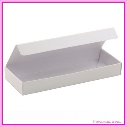 Bomboniere Box - 3 Chocolates - Crystal Perle Diamond White (Metallic)