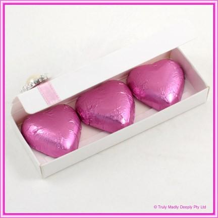 Bomboniere Box - 3 Chocolates - Semi Gloss White