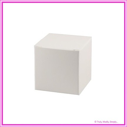 Bomboniere Box - 5cm Cube - Semi Gloss White