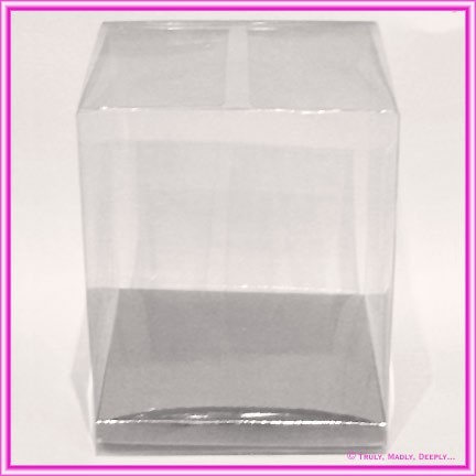 Bomboniere Box 120x120x160mm Clear with Silver Base