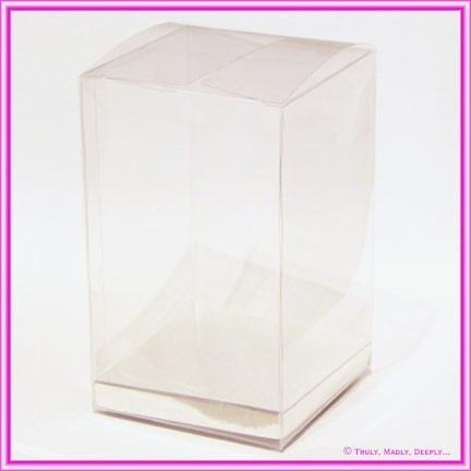 Bomboniere Box 80x80x130mm Clear with Silver Base