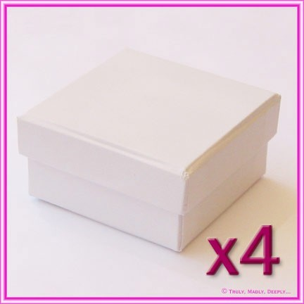Bomboniere Boxes White 60x60x30mm - Pack of 4