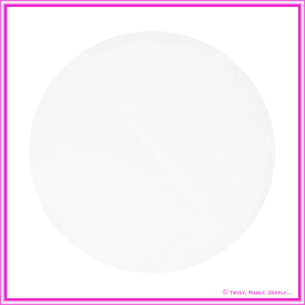 Tulle Circle White Organza Plain Pck