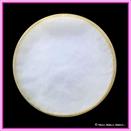 Tulle Circle Metallic Glitter Edge GOLD
