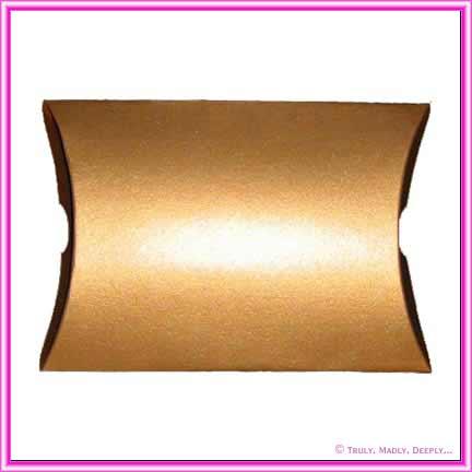 Bomboniere Pillow Box 120mm Metallic Gold