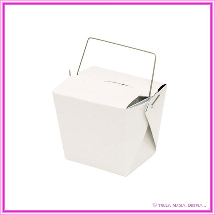 Small Noodle Box White 8oz - With Handle