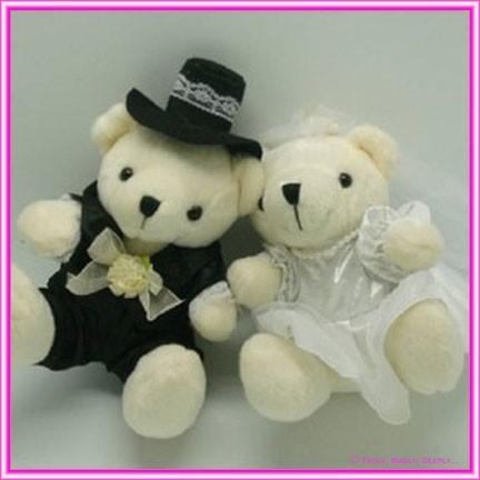 Wedding Bride & Groom Teddies