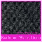 Kendal Buckram Black Linen 270gsm Matte Card Stock - A4 Sheets