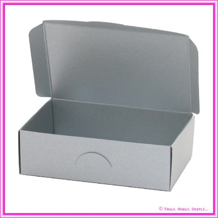 Wedding Cake Box - Crystal Perle Steele Silver (Metallic)