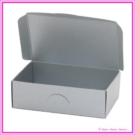 Wedding Cake Box - Metallic Pearl Silver