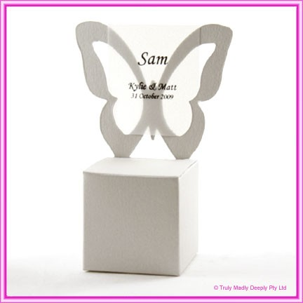 Bomboniere Butterfly Chair Box - Curious Metallics Lustre