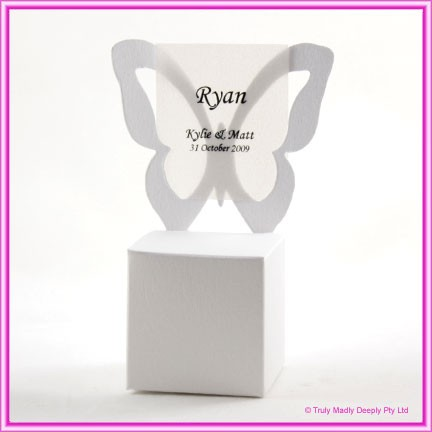 Bomboniere Butterfly Chair Box - Curious Metallics Ice Gold