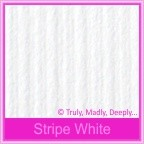 Bomboniere Box - 3 Chocolates - Classique Striped White (Matte)