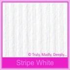 Bomboniere Heart Chair Box - Classique Striped White (Matte)