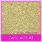 Bomboniere Box - 10cm Cube - Crystal Perle Antique Gold (Metallic)
