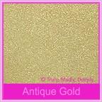 Bomboniere Box - 3 Chocolates - Crystal Perle Antique Gold (Metallic)