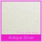 Crystal Perle Antique Silver 125gsm Metallic - DL Envelopes