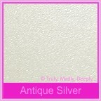 Crystal Perle Antique Silver 125gsm Metallic - 130x130mm Square Envelopes