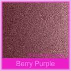 Bomboniere Box - 10cm Cube - Crystal Perle Berry Purple (Metallic)