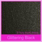 Bomboniere Box - 3 Chocolates - Crystal Perle Glittering Black (Metallic)