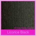 Crystal Perle Licorice Black 300gsm Metallic Card Stock - A4 Sheets