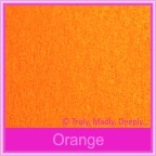 Bomboniere Box - 5cm Cube - Crystal Perle Orange (Metallic)