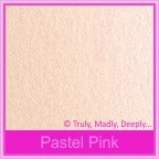Crystal Perle Pastel Pink 125gsm Metallic - 130x130mm Square Envelopes
