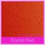 Crystal Perle Scarlet Red 125gsm Metallic - 160x160mm Square Envelopes