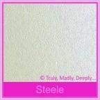 Crystal Perle Steele Silver 125gsm Metallic - DL Envelopes