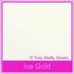 Curious Metallics Ice Gold 120gsm - 130x130mm Square Envelopes