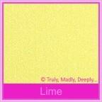 Curious Metallics Lime 300gsm Card Stock - A4 Sheets