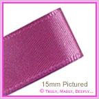 Double Sided Satin Ribbon 25mm - Amethyst - 25Mtr Roll