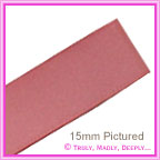 Double Sided Satin Ribbon 15mm - Dusty Pink - 25Mtr Roll