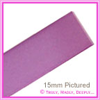 Double Sided Satin Ribbon 15mm - Lilac - 25Mtr Roll