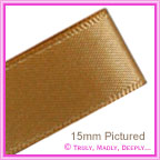 Double Sided Satin Ribbon 15mm - Sable - 25Mtr Roll