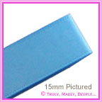 Double Sided Satin Ribbon 15mm - Teal - 25Mtr Roll