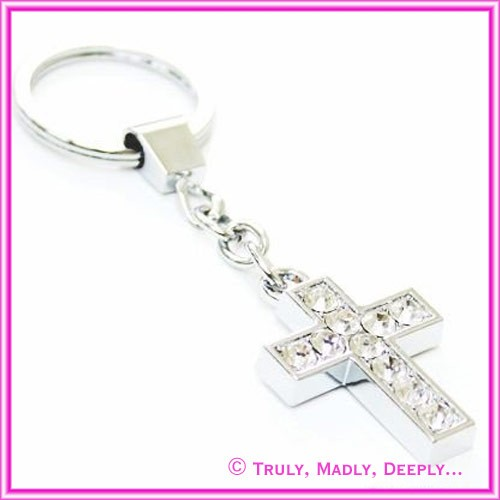 Favor / Bomboniere - Keyring Cross 10 Diamantes