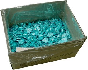 Foil Wrapped Chocolate Hearts - Light Blue / Turquoise - 5kg (approx 620)