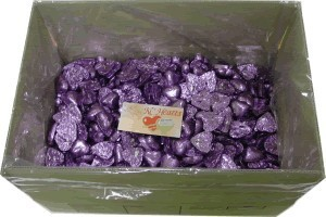 Foil Wrapped Chocolate Hearts - Mauve - 5kg (approx 620)