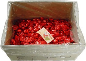 Foil Wrapped Chocolate Hearts - Red - 5kg (approx 620)