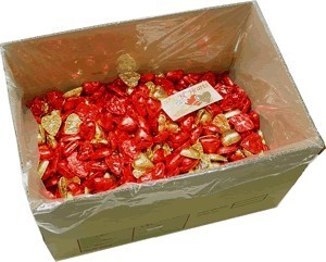 Foil Wrapped Chocolate Hearts - Mixed Valentines - 5kg (approx 620)