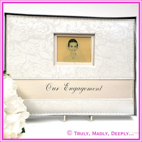 Engagement Guest Book - Floral Print
