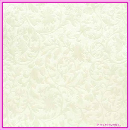 A4 Embossed Invitation Paper - Botanica White Pearl
